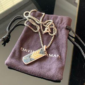 David Yurman   Pietersite/18k Gold Necklace